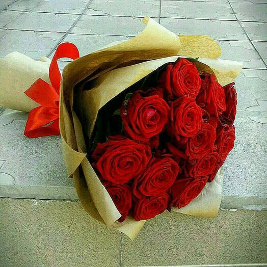 Букет роза 15 шт