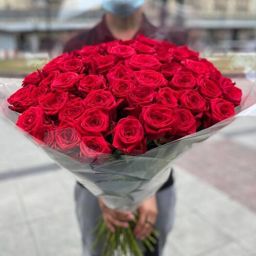 Букет из 101 красных роза