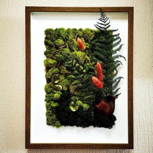 Картина из мха Лесная роса