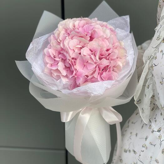 Букет Джуси из розовой гортензии