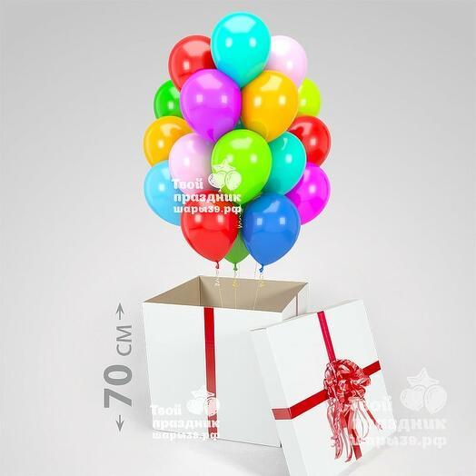 Большая коробка с 18 гелиевыми шарами (30см)