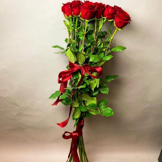Букет из 11 роз, 100 см
