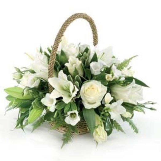 Корзина на свадьбу: букеты цветов на заказ Flowwow