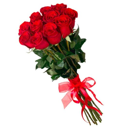 11 red Dutch roses: flowers to order Flowwow