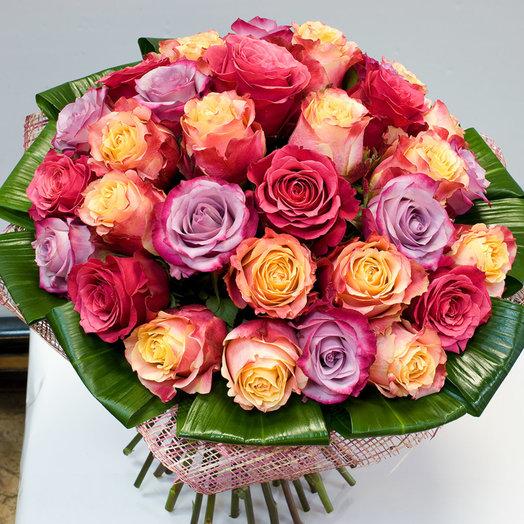 Букет из роз Самоцветы: букеты цветов на заказ Flowwow