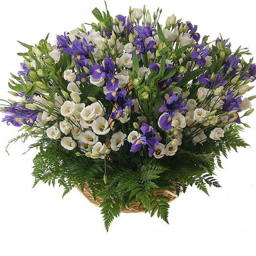 Корзина с цветами Алмаз в ночи: букеты цветов на заказ Flowwow
