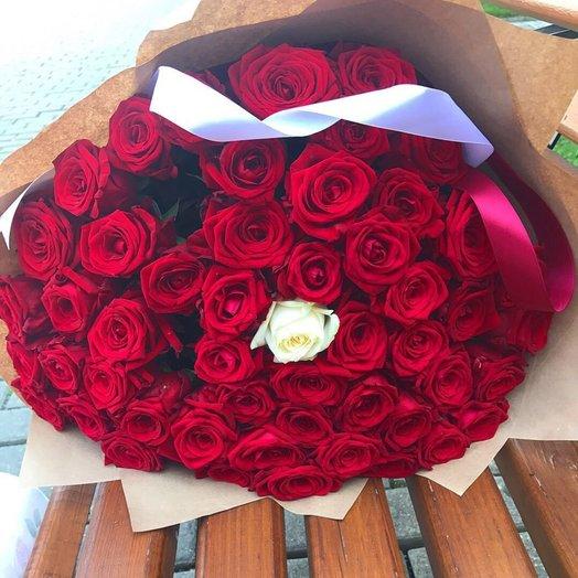 51 роза любви: букеты цветов на заказ Flowwow