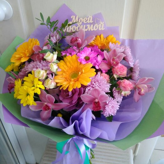 Букет сборный Любимой моей: букеты цветов на заказ Flowwow