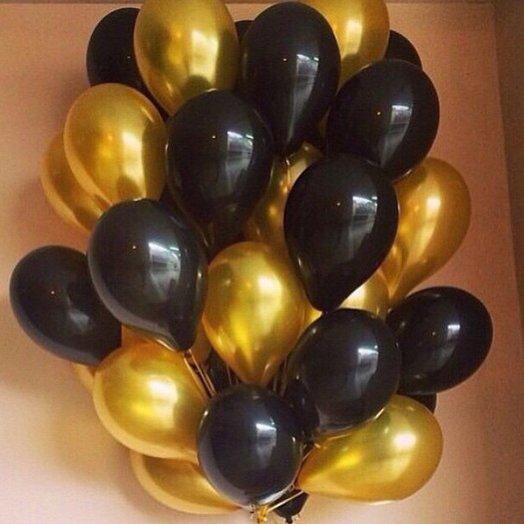 """Воздушные шары 45 штук """"Мега золото"""": букеты цветов на заказ Flowwow"""