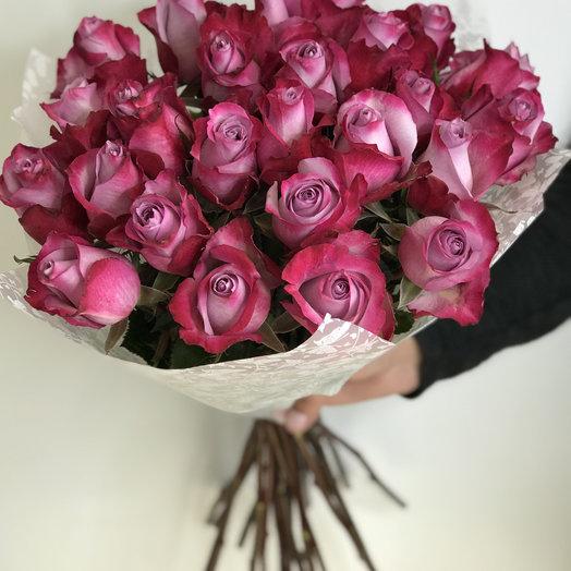 25 сиреневых роз: букеты цветов на заказ Flowwow