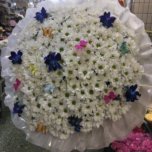 Букет с бабочками: букеты цветов на заказ Flowwow