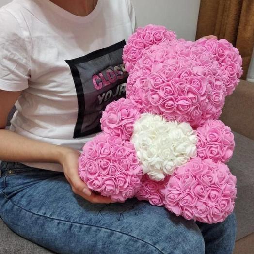 Мишка из 3 D роз: букеты цветов на заказ Flowwow