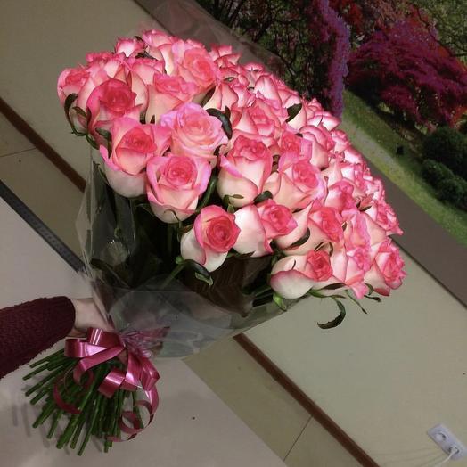 Букет из 39 роз «Джумилия»: букеты цветов на заказ Flowwow