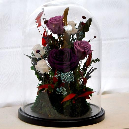 КОМПОЗИЦИЯ «БЭЛЛЬ» - БУТОНЫ РОЗ, МОХ И ДЕКОР: букеты цветов на заказ Flowwow