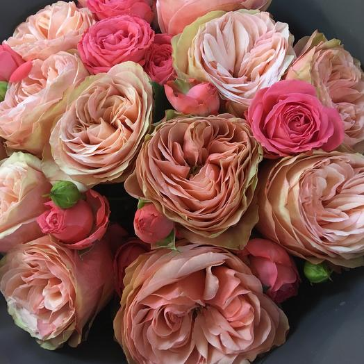 Кахала, пионовая ароматная роза: букеты цветов на заказ Flowwow