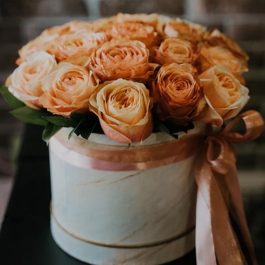 Box with peony roses: flowers to order Flowwow