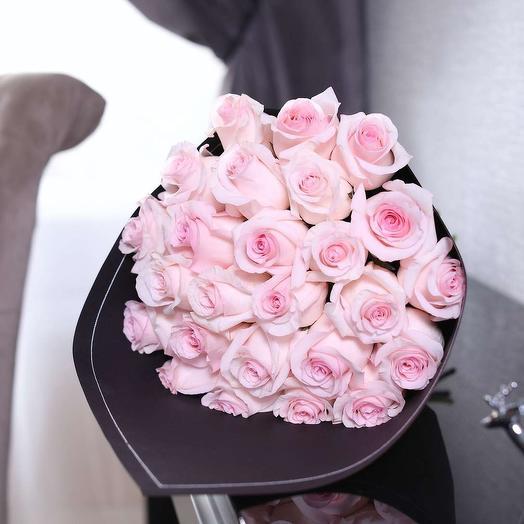 Розовый блеск: букеты цветов на заказ Flowwow