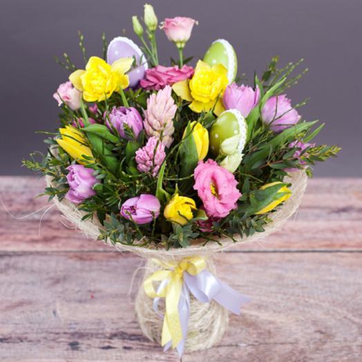 Пасхальный букет: букеты цветов на заказ Flowwow