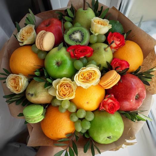 Фруктовый букет «Ирис»: букеты цветов на заказ Flowwow