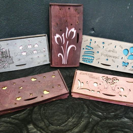 Конверты/открытки для денег: букеты цветов на заказ Flowwow