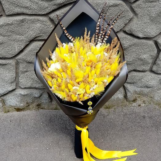"""Букет из сухоцветов """"Солнечный"""": букеты цветов на заказ Flowwow"""