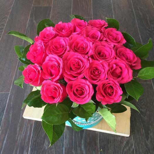 Ароматные розы в коробке 🌿