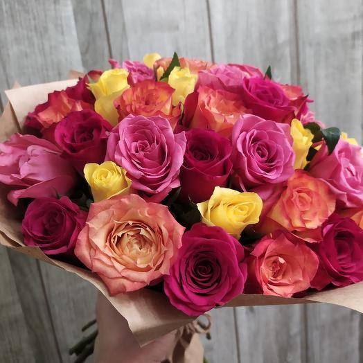 Букет из роз на День Влюблённых: букеты цветов на заказ Flowwow
