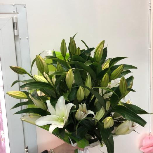 Букет 7 шт.Лилии Восточной белой