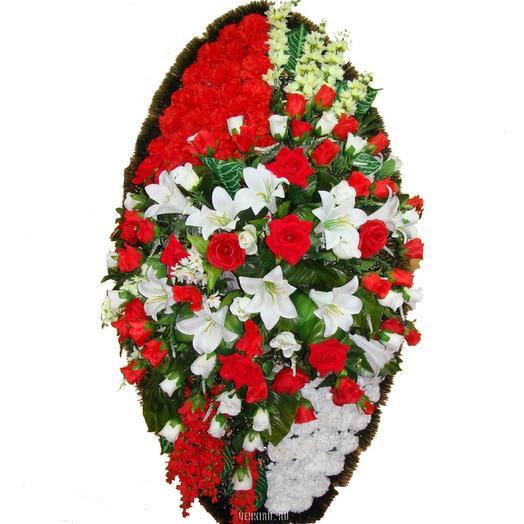 Венок из искусственных цветов: букеты цветов на заказ Flowwow