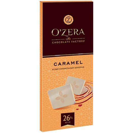 Шоколад белый карамельный ozera caramel, 90 г