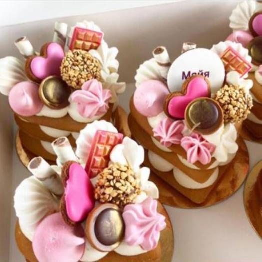 Мини торт Розовый фламинго