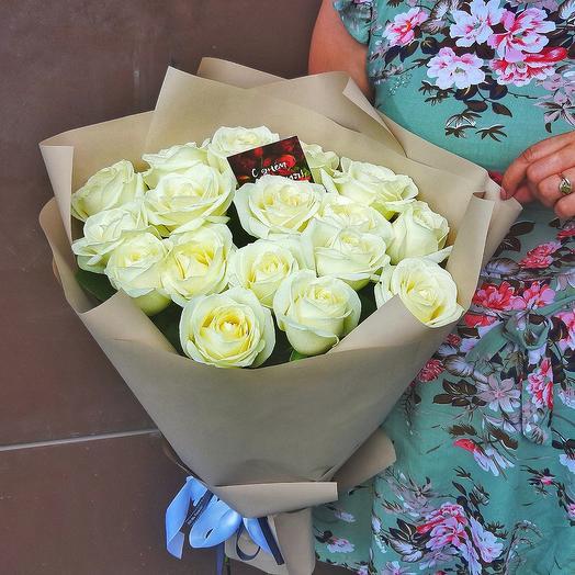 Белые розы по супер цене