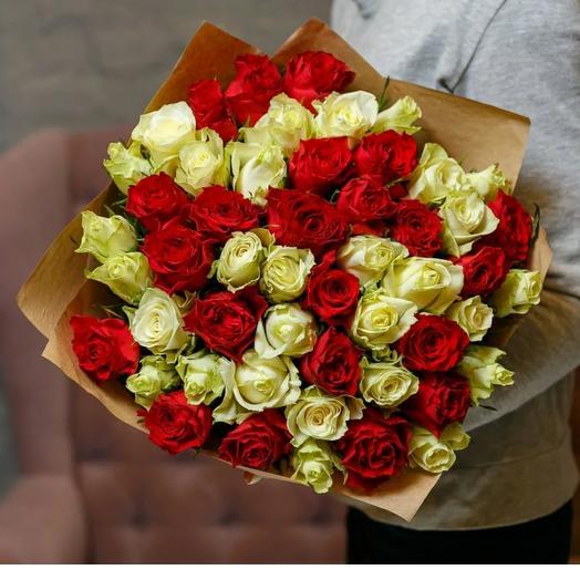 Монобукет из 51 кенийской розы