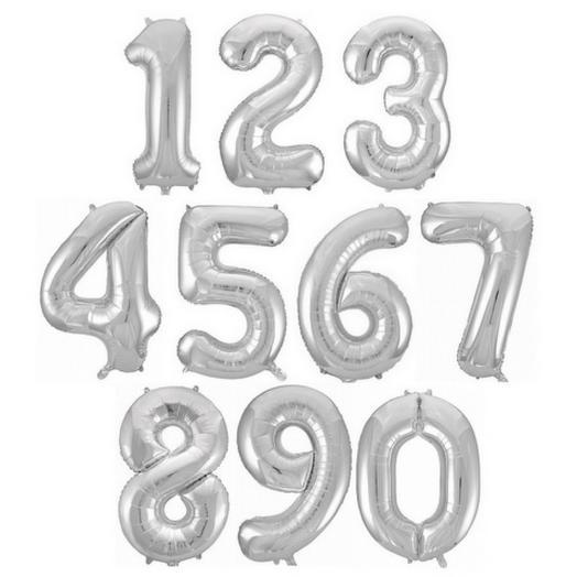 Воздушный шар «Цифра серебро» 40  /102 см