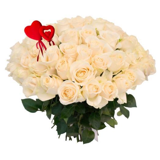 Букет моно Белые Розы