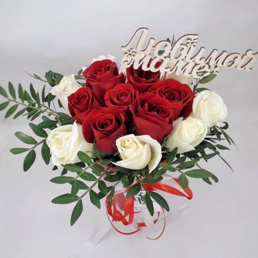 Коробочка с Розами для Любимой Мамы (День Матери)