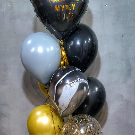 Набор шаров + шар с индивидуальной надписью