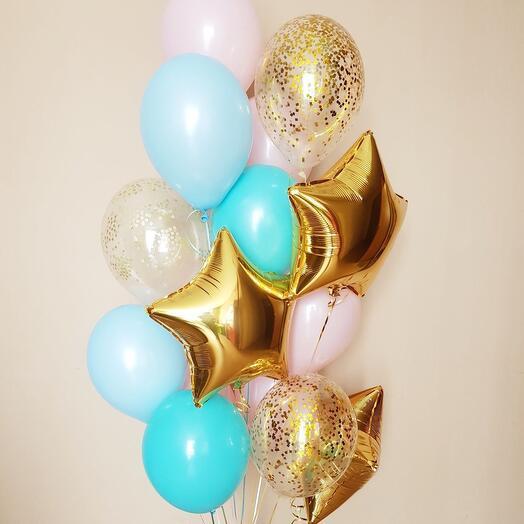 Фонтан из 15 шаров