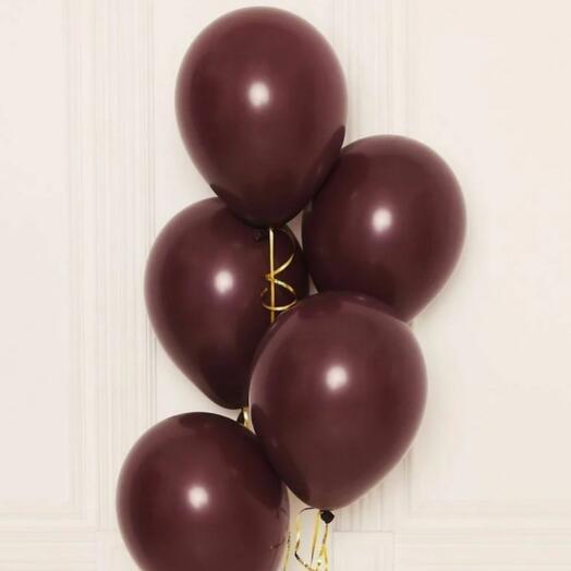 Шоколадные гелиевые шарики, 5 шт