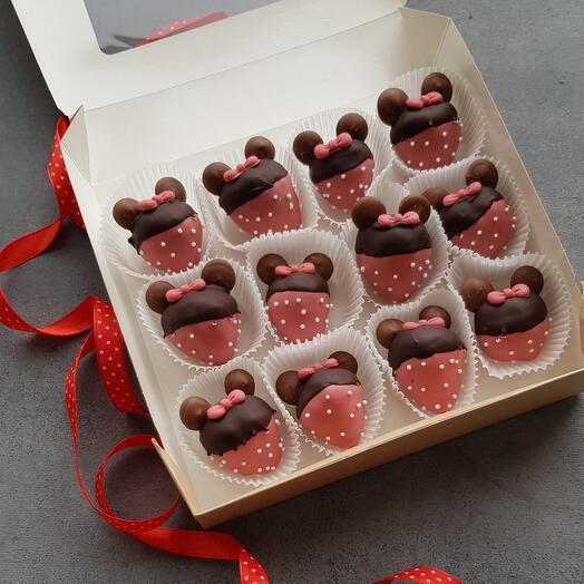 Клубника в бельгийском шоколаде Мини Маус