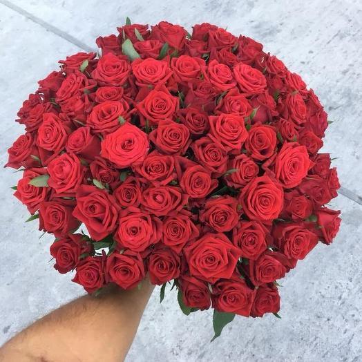 Букет из 75 красных роз 70 см: букеты цветов на заказ Flowwow