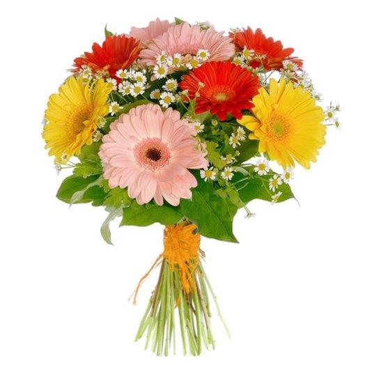 Букет Доброе утро из гербер и зелени Код 152540: букеты цветов на заказ Flowwow