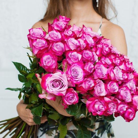 51  Эквадорская Роза 80см: букеты цветов на заказ Flowwow