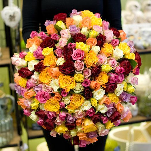 "Букет роз ""Живи ярко"": букеты цветов на заказ Flowwow"