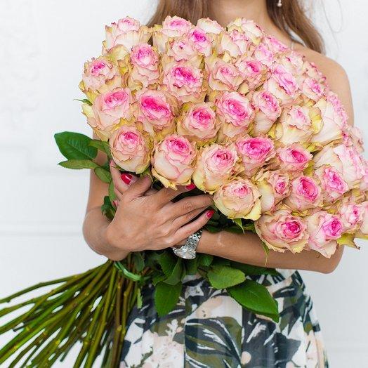 51 роза Esperance: букеты цветов на заказ Flowwow