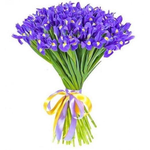 Букет 55 ирисов: букеты цветов на заказ Flowwow