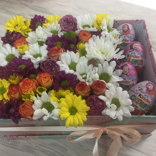 Хризантема микс: букеты цветов на заказ Flowwow