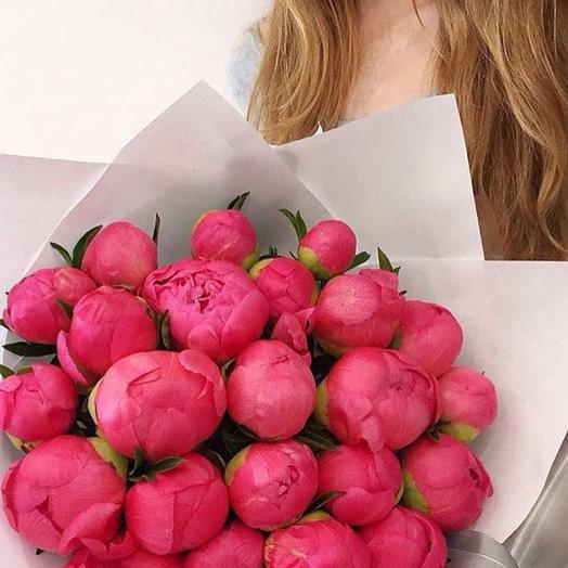 Коралловые пионы: букеты цветов на заказ Flowwow