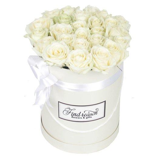 """Шляпная коробка """"Белла роза"""": букеты цветов на заказ Flowwow"""