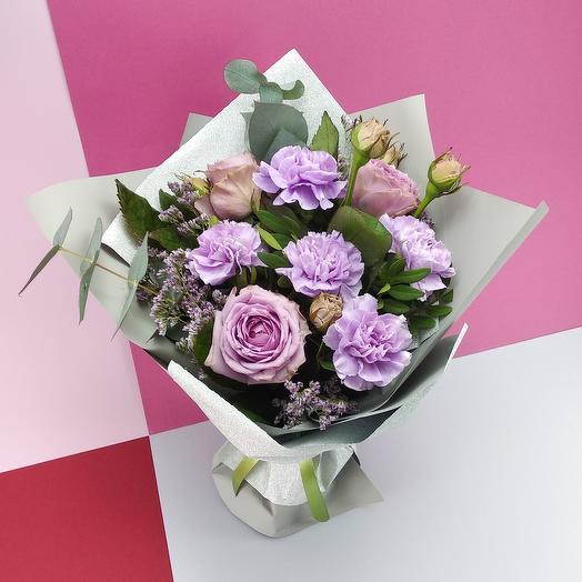 Сиреневый комплимент: букеты цветов на заказ Flowwow